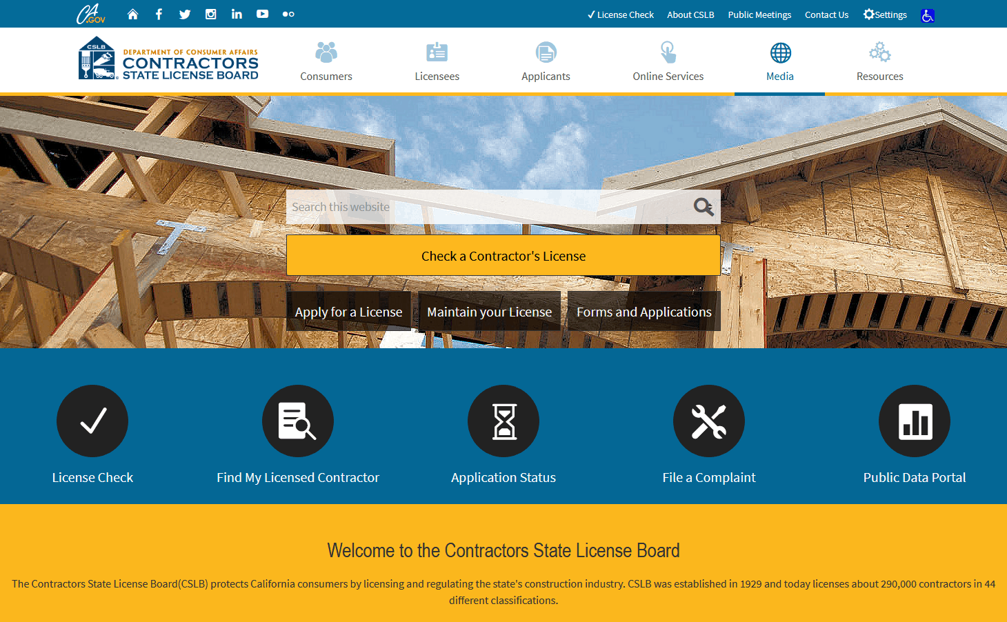 CSLB Website